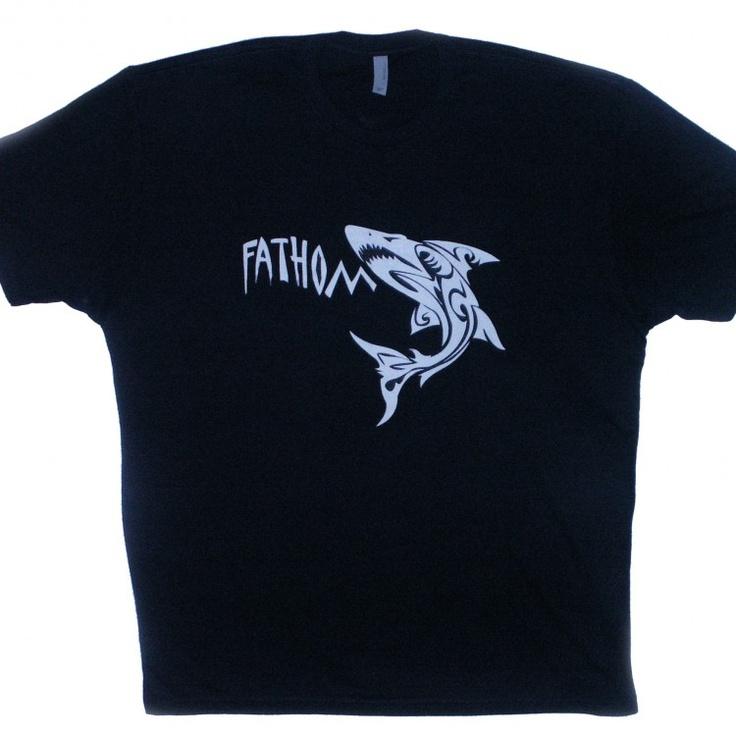 Fathom Shark men's t-shirt #clothes. Design trademarked by Fathom Wear®
