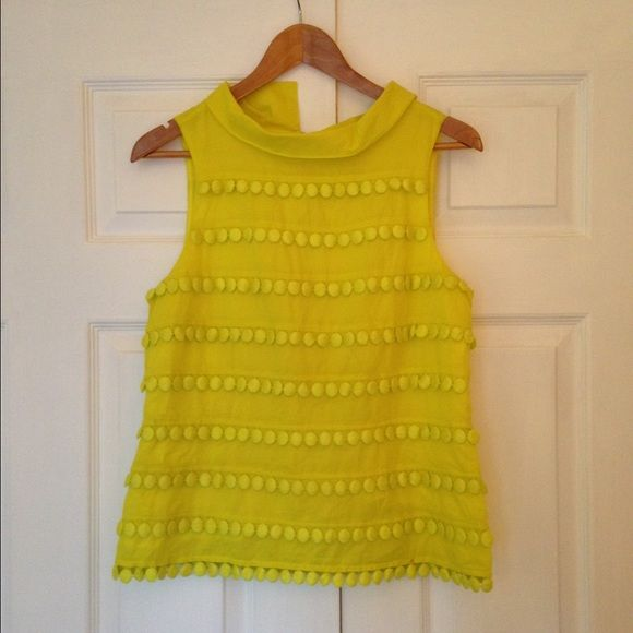 J.Crew Bright Yellow Tank Top This bright yellow tank top from J.Crew will surely bring some fun to your outfit! Only been worn twice, excellent condition! J. Crew Tops Tank Tops