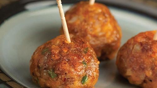 Maple Sausage Apple Cheese Balls Appetizer Recipe - Jimmy Dean