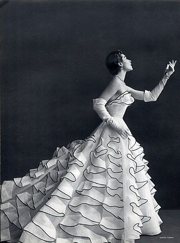 Jacques Heim Evening Gown, 1953 - Photo by Tobias