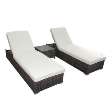 Boracay PE Wicker Outdoor Sunbed Lounge Package  - Brown