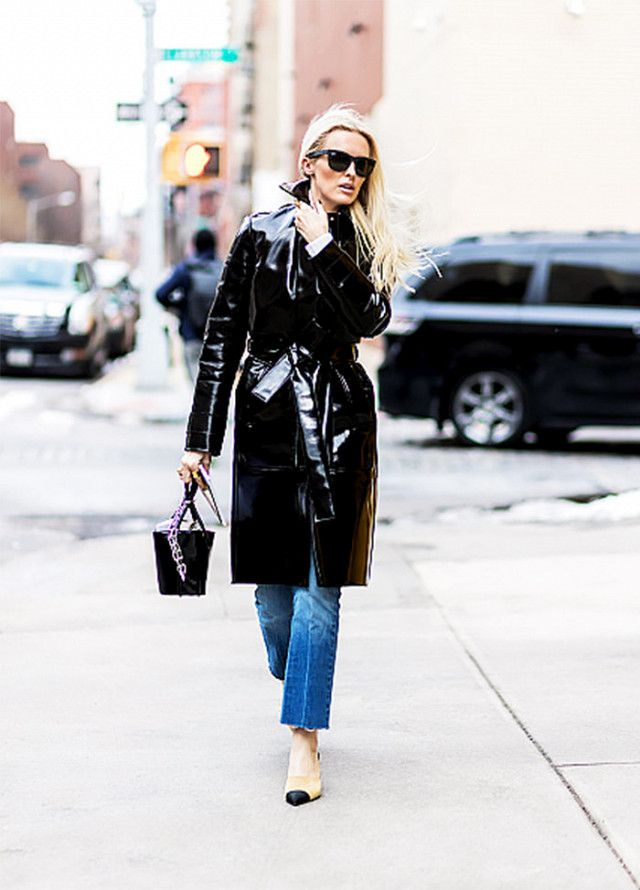 Patent leather can be worn year round—even in spring.