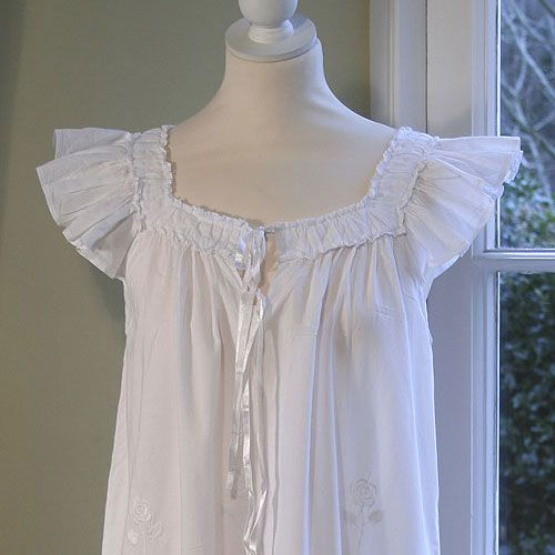 White pure cotton, the only nightgown I will wear.