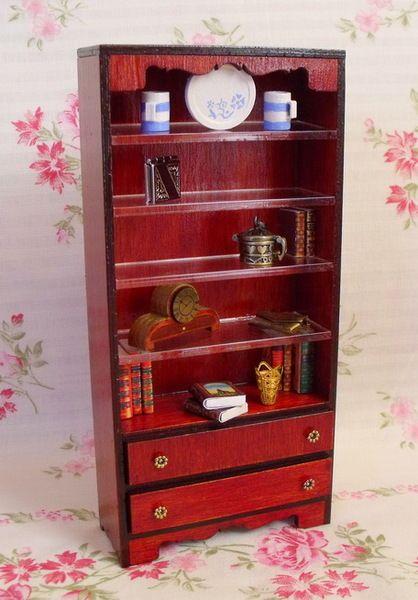 Miniaturowy regał na książki 1:12 - handmade w Mini Crafts na DaWanda.com