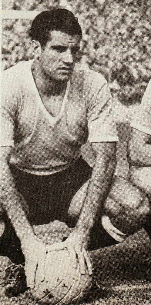 Julio Abbadie of Uruguay at the 1954 World Cup Finals.
