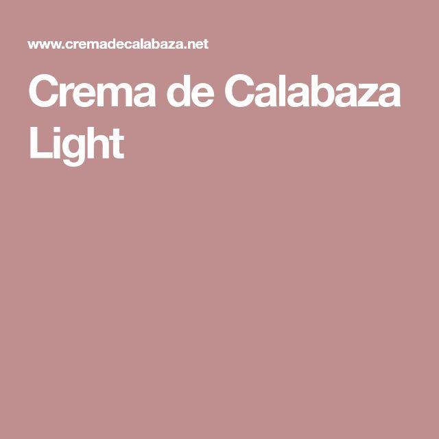 Crema de Calabaza Light