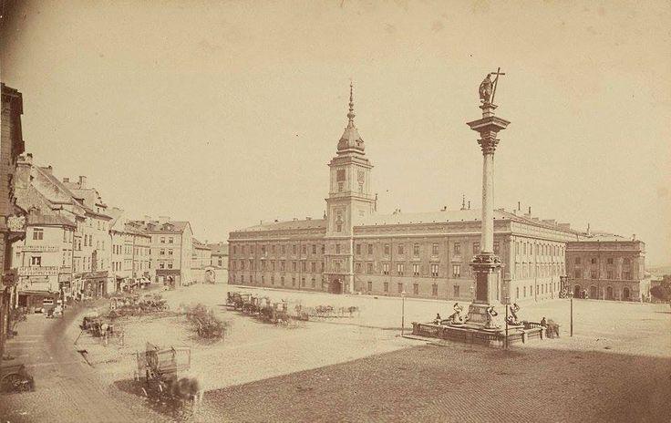 Plac Zamkowy fot. 1871r., Konrad Brandel, źr. livejournal.com
