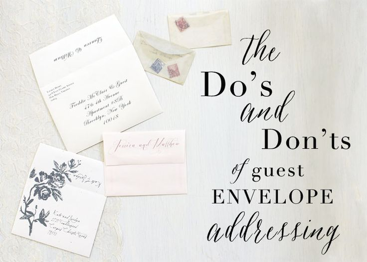 how to address your wedding invites