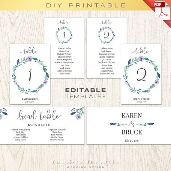 39 best Wedding Table Numbers \ Seating images on Pinterest - number chart template