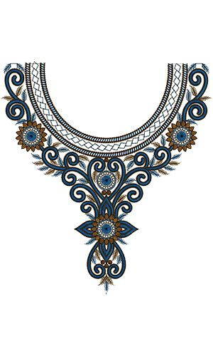 Beautiful Embroidery Neck Design 15760