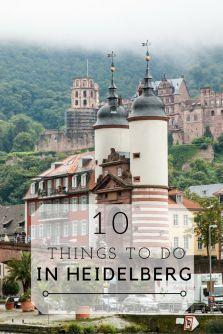 10 Dinge, die man in Heidelberg tun sollte / 10 Things to do in Heidelberg, Germany. (Englisch)