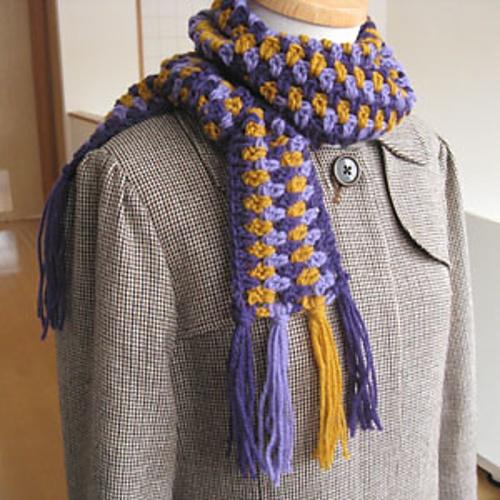 Ravelry: sideways striped scarf (横編み...  Found o