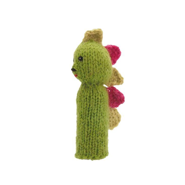 きょうりゅうの指人形   ihanaa−北欧とバルト三国の毛糸と 雑貨のセレクトショップ