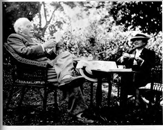 Carl Jung and Emma Jung at Kushnacht in 1950