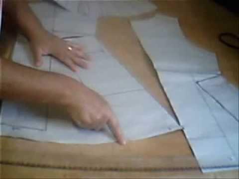 Aula de Costura em Malha - Túnica com manga godê MODELAGEM - YouTube
