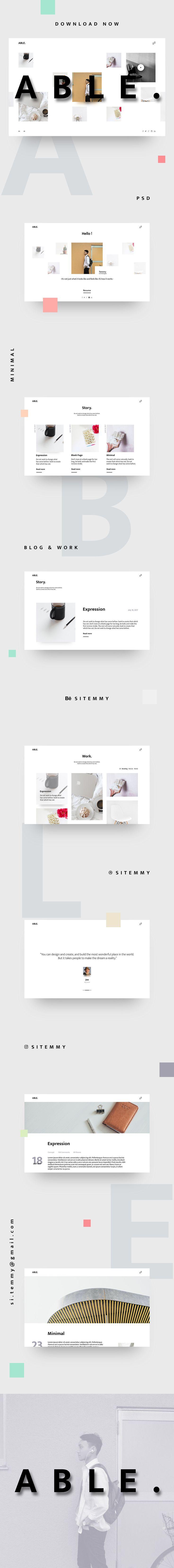 Portfolio / Resume Website Template PSD