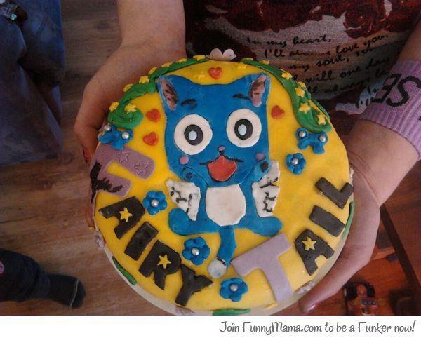 Happy Fairy Tail Cake Anime Cakes Pinterest Happy