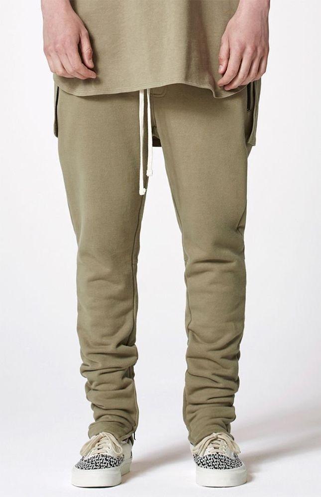 c9f2e950 NWT Fear of God Pacsun Essentials SILVER SAGE Drawstring Pants Sweatpants L  FOG | eBay