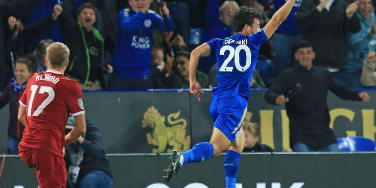 Shinji Okazaki inspires Leicester win over Liverpool in League Cup