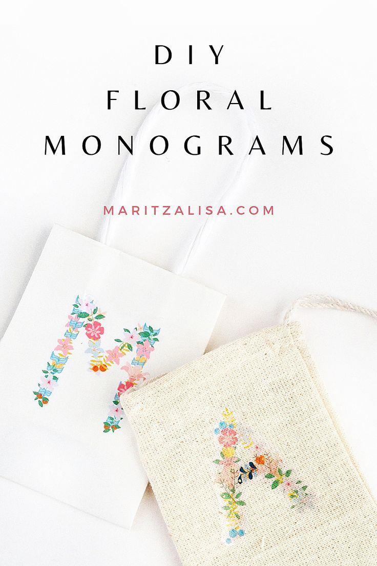 Floral Monograms Diy Floral Monogram Temporary Tattoo