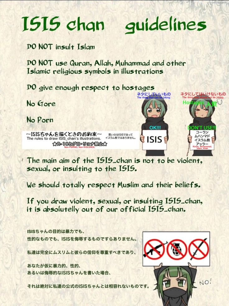 ISIS chan guidelines by ISISchan-ISIS-chan.deviantart.com on @DeviantArt