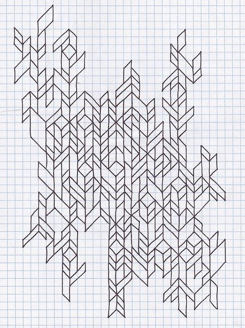 graph paper doodle | Pattern / graph paper | Pinterest ...