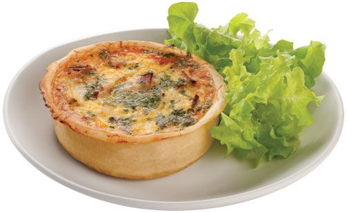 Quiche - Savoury Pastry- This Recipe is Gluten Free, Wheat Free, Soya Free, Nut Free and Dairy Free.       2 cups (500g) Premium Self Raising Flour Mix     6 tablespoons (150g) Margarine     1 cup (250ml) Water     Rice Flour for dusting