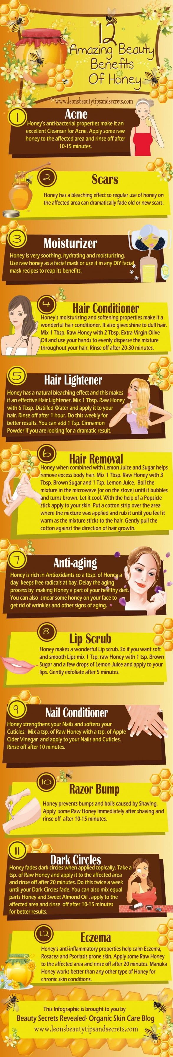 12 Amazing Beauty Benefits of Honey - The Homestead Survival - Homesteading Beauty