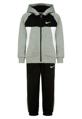 Nike Performance Joggedress - dark grey heather/black/white/volt - Zalando.no