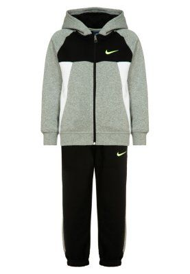 Nike Performance Joggedress - dark grey heather/black/white/volt - Zalando.no