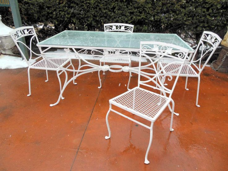 Woodard Orleans | Vintage Wrought Iron Patio Furniture | Pinterest ...