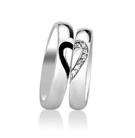 silver wedding ring with hearts | Compare Pink Heart Engagement Rings-Source Pink Heart Engagement Rings ...