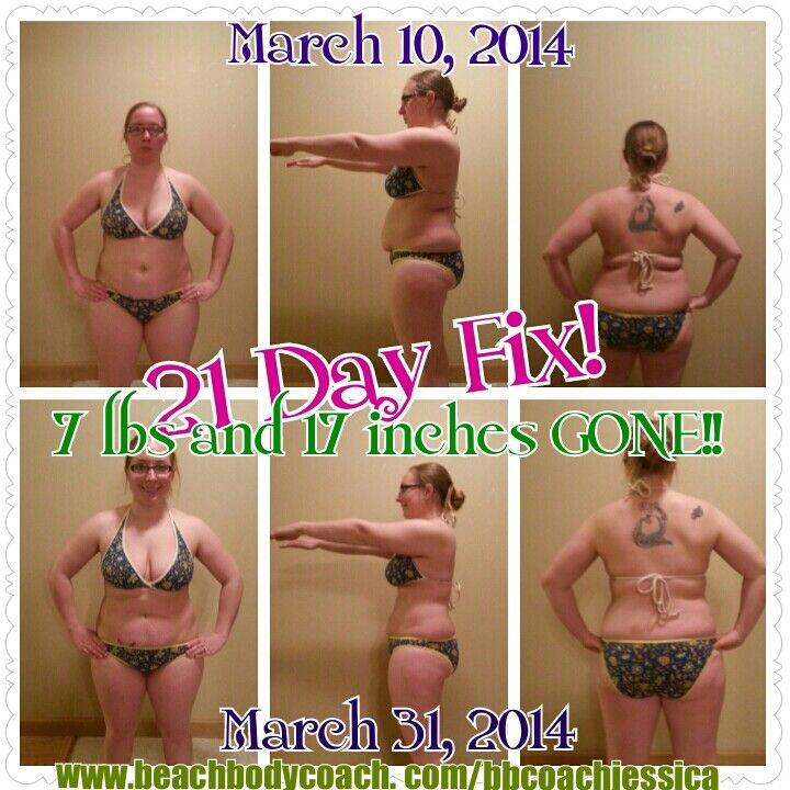 My 21 Day Fix results for round 1! Find me at www.facebook.cm ...