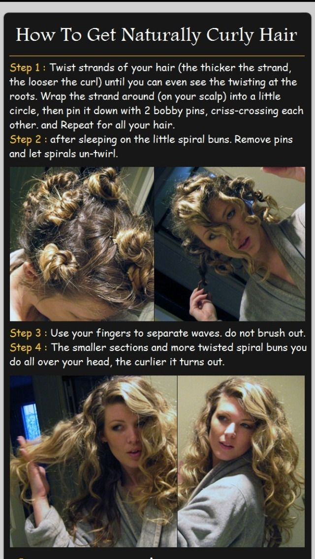 How To Get Naturally Curly Hair... This actually works the best out of any other methods I have tried. And especially if you have dyed hair (like red), any kind of heat method wrecks your dye, even with product to prevent that from happening!