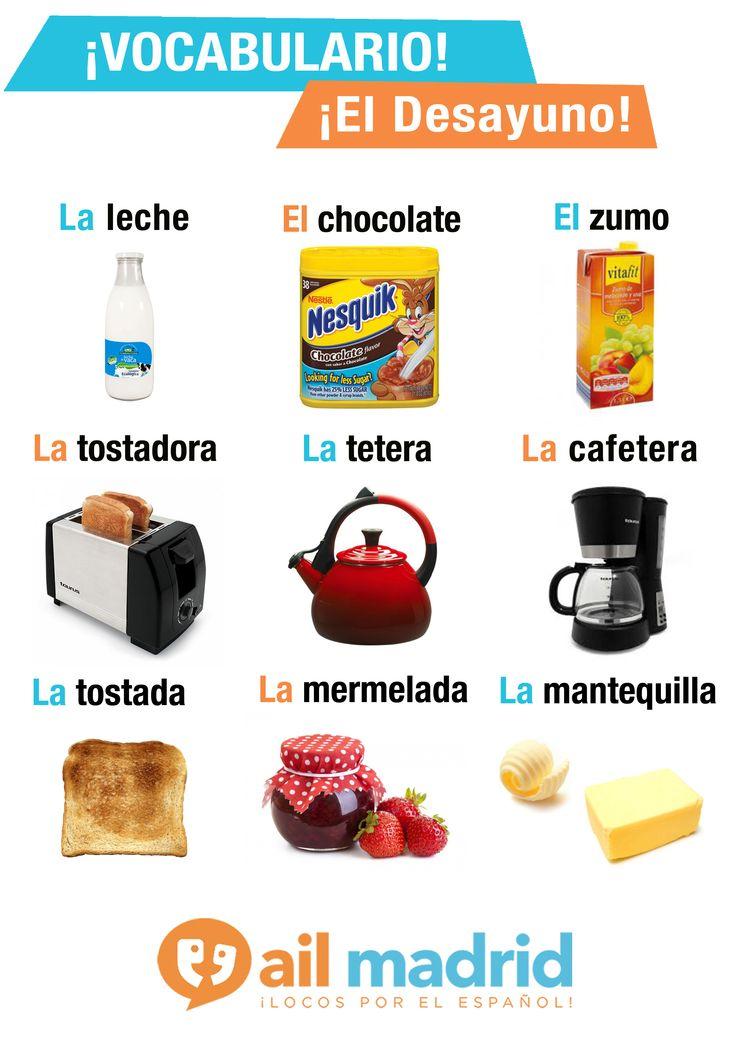¿Qué un #desayuno a lo grande para empezar el día con buen pie? ;) #vocabulario…