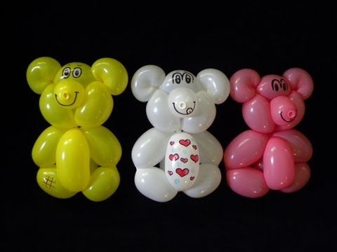 OSITOS BONITOS Y FACILES.- ONE BALLOON BEAR - YouTube