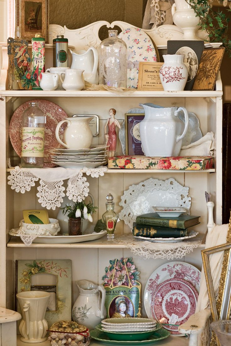 Inside Prince Street Dry Goods of Denver, fine antique china and furniture are right at home.