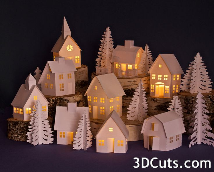 Tea Light Village 3dcuts Com Marji Roy 3d Cutting Files