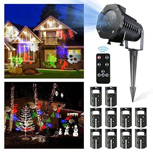 Christmas Lights DRILLPRO Garden Projector Lights 10PCS LED
