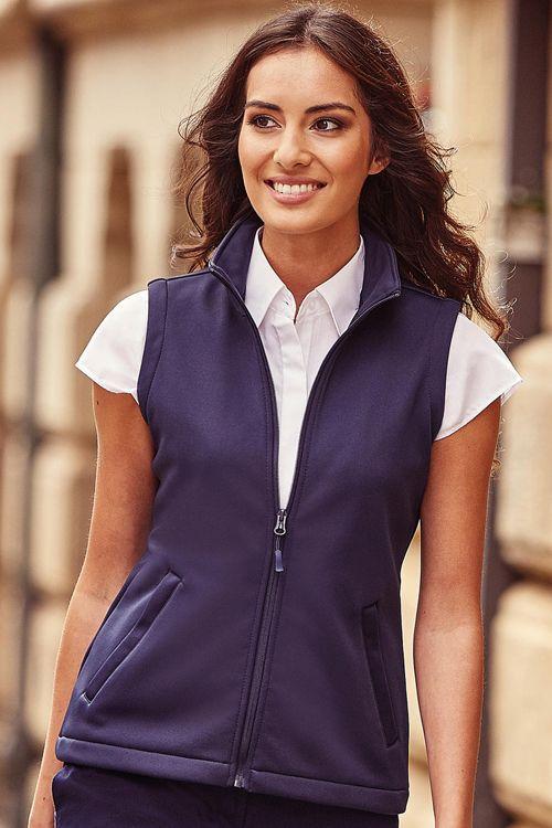 Vestă damă SmartSoftshell Russell din 100% poliester la exterior şi micropolar pe interior #veste #softshell #personalizate #femei #textile #promotionale