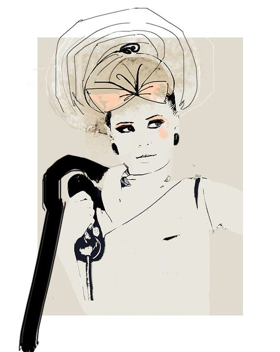 Really loving mixed media fashion illustrations lately. It will be hard to pick just one for my art wall.