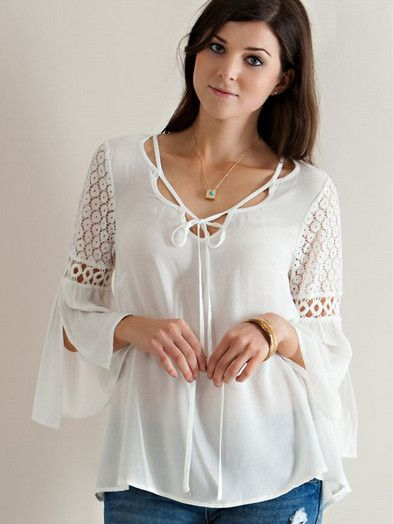 Romantic Shoulder Top - White from Chocolate Shoe Boutique
