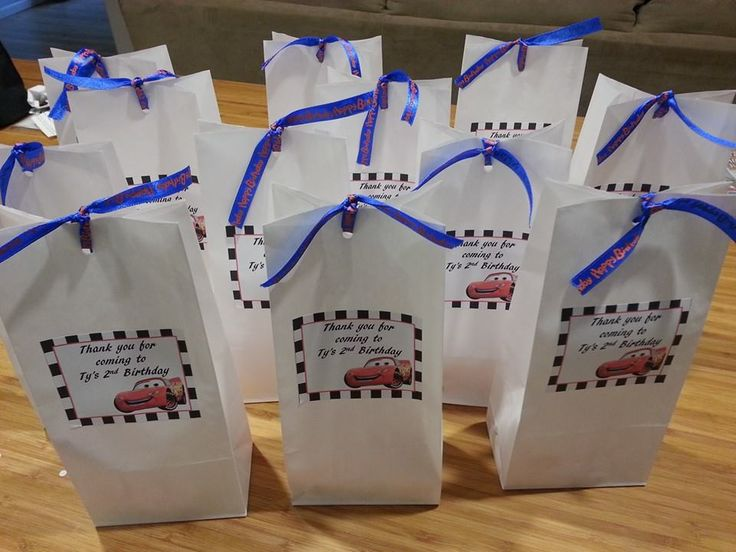 Disney Cars Personalised Lolly Bags. Designed by Shoalhaven Kids Parties.
