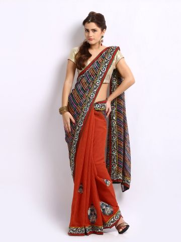 Ambica Multi-Coloured Embroidered Jute Georgette Fashion Saree | Myntra http://www.myntra.com/women-sarees?nav_id=606&src=tn