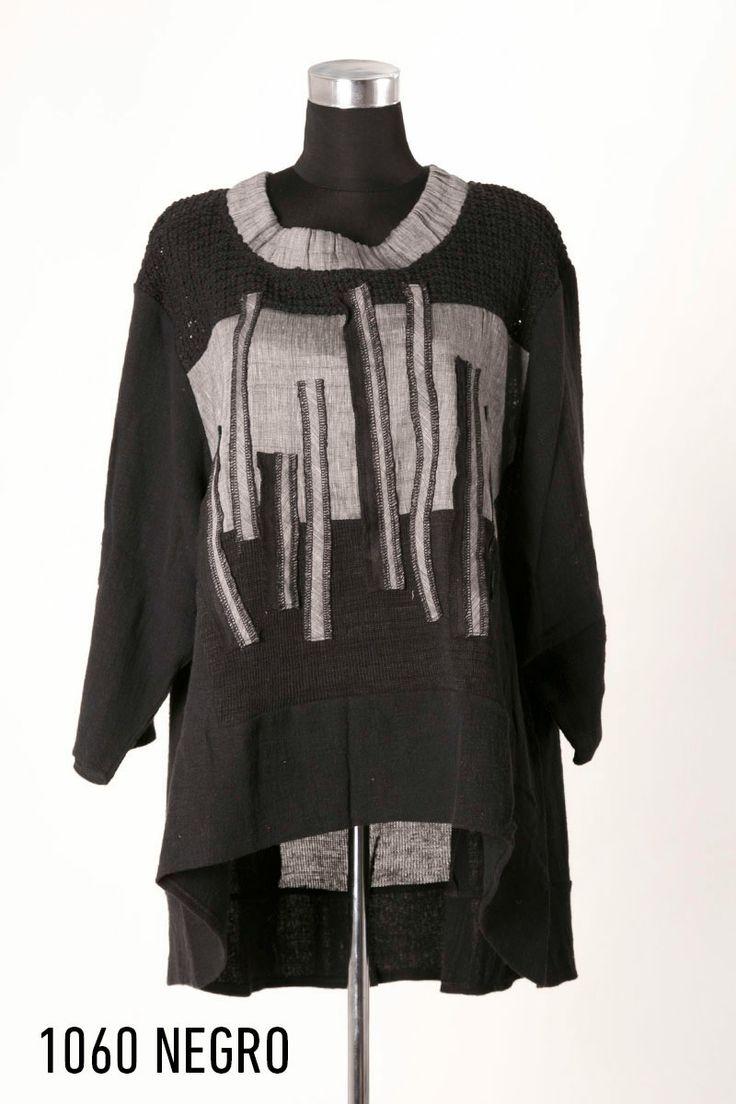 Camiseta lino negro