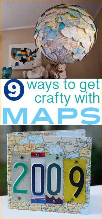 9 DIY Ways to get Crafty with Maps.