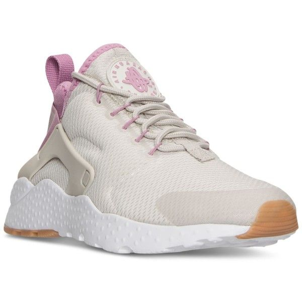 Nike Women's Air Huarache Run Ultra Running Sneakers from Finish Line ($115) ❤ liked on Polyvore featuring shoes, sneakers, nike footwear, nike, nike sneakers, nike trainers and nike shoes