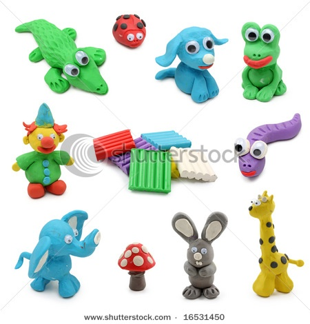 animals modeling clay