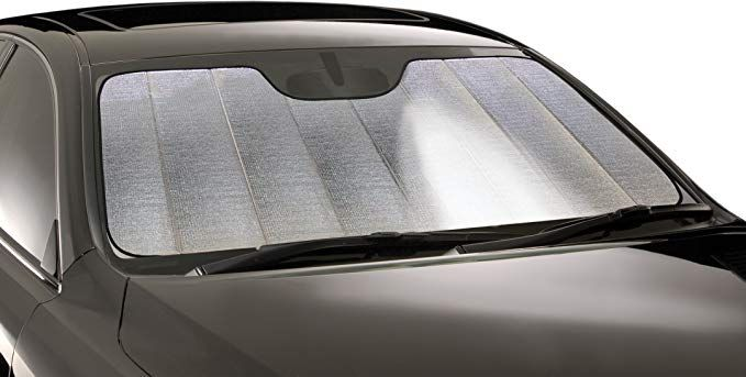Intro-Tech GM-908-P Custom Fit Premium Folding Windshield Sunshade for select GMC Sierra 1500 Models Silver w/o Sensor