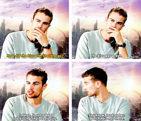 Theo James about kissing Shailene